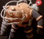 Big Daddy (the Bouncer) from Bioshock in Amigurumi Crochet