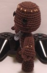 Amigurumi Sackboy from Little Big Planet - Side View