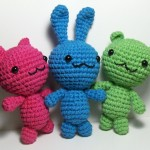 Chibi Kawaii Amigurumi Kitty, Bunny and Bear