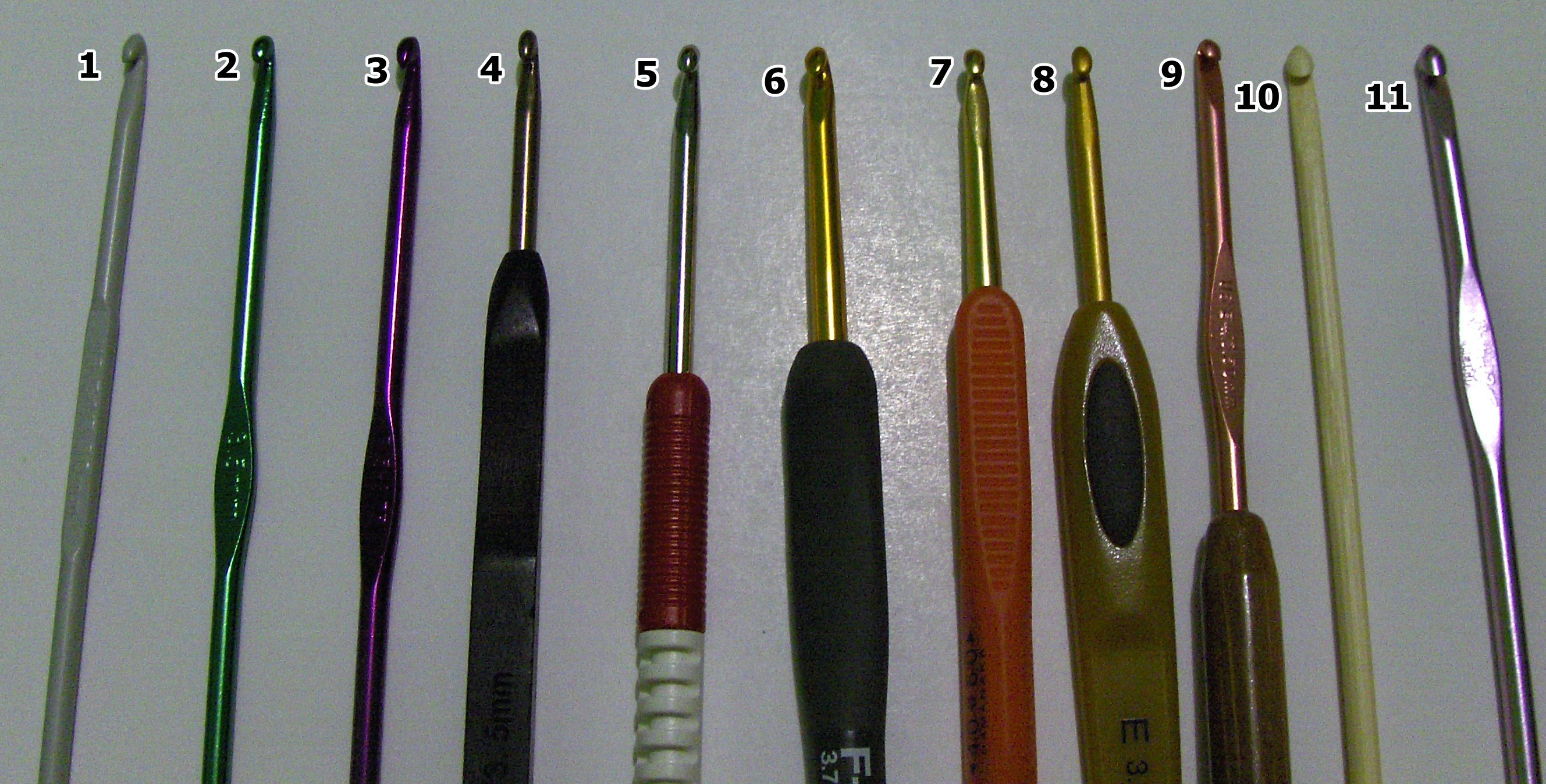 Crocheting Needle Sizes : ... Crochet Patterns with love for the Nerdy ? ? Guide to Crochet Hooks