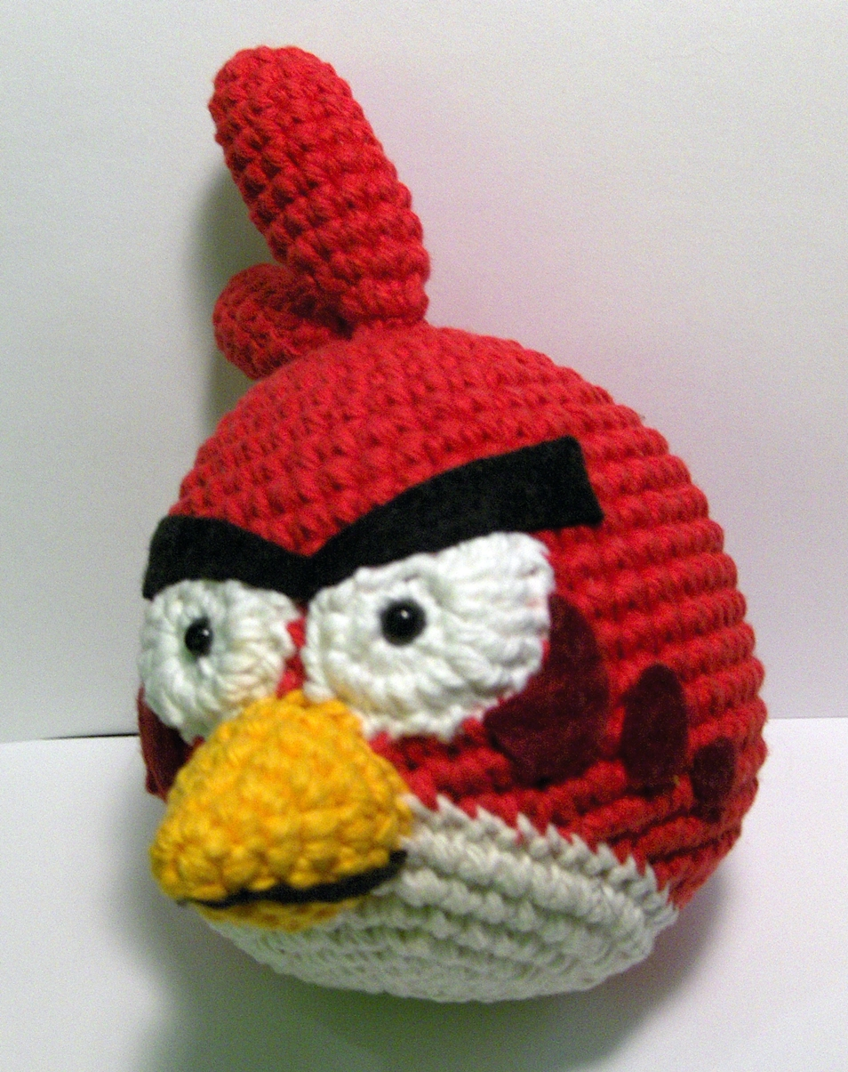 Amigurumi Angry Birds Rojo Patron : Nerdigurumi - Free Amigurumi Crochet Patterns with love ...