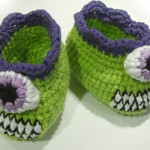 Cyclops Monster Baby Booties