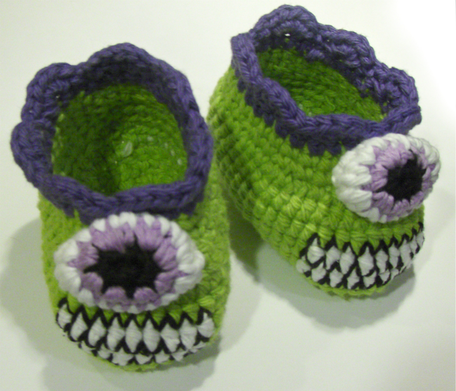 Free Crochet Pattern For Monster Slippers : Nerdigurumi - Free Amigurumi Crochet Patterns with love ...
