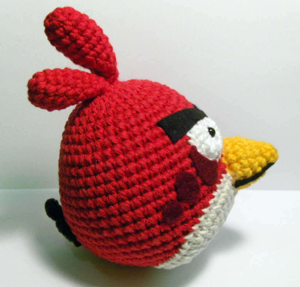 Ravelry: Angry Birds - Cardinal pattern by Adorable Amigurumi | 983x1029